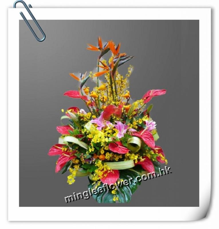 New Year flower basket