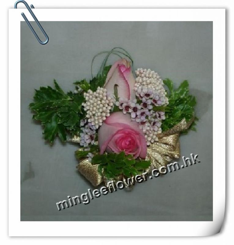 二頭玫瑰襟花